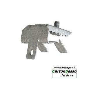 Clip in acciaio fosfatato con vite M6