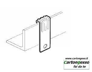 Clip in acciaio fosfatato di supporto verticale disegno 2