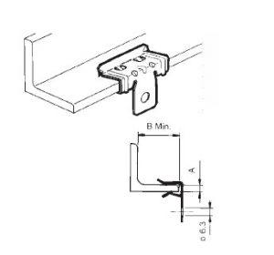 Clip in acciaio fosfatato disegno