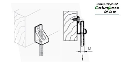 Supporto in acciaio fosfatato verticale disegno