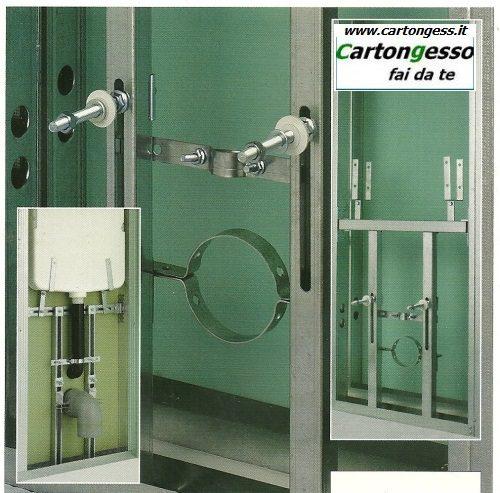 Telaio supporto per WC sospeso e kit cassetta