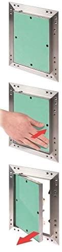 modo di apertura botole con sportello fisso drywall