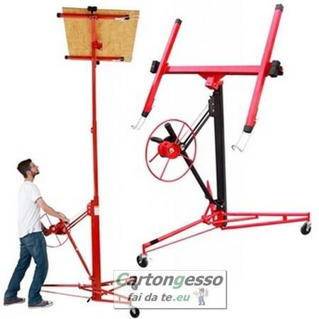 Carrello alzalastre telescopico professionale a 3 ruote-1
