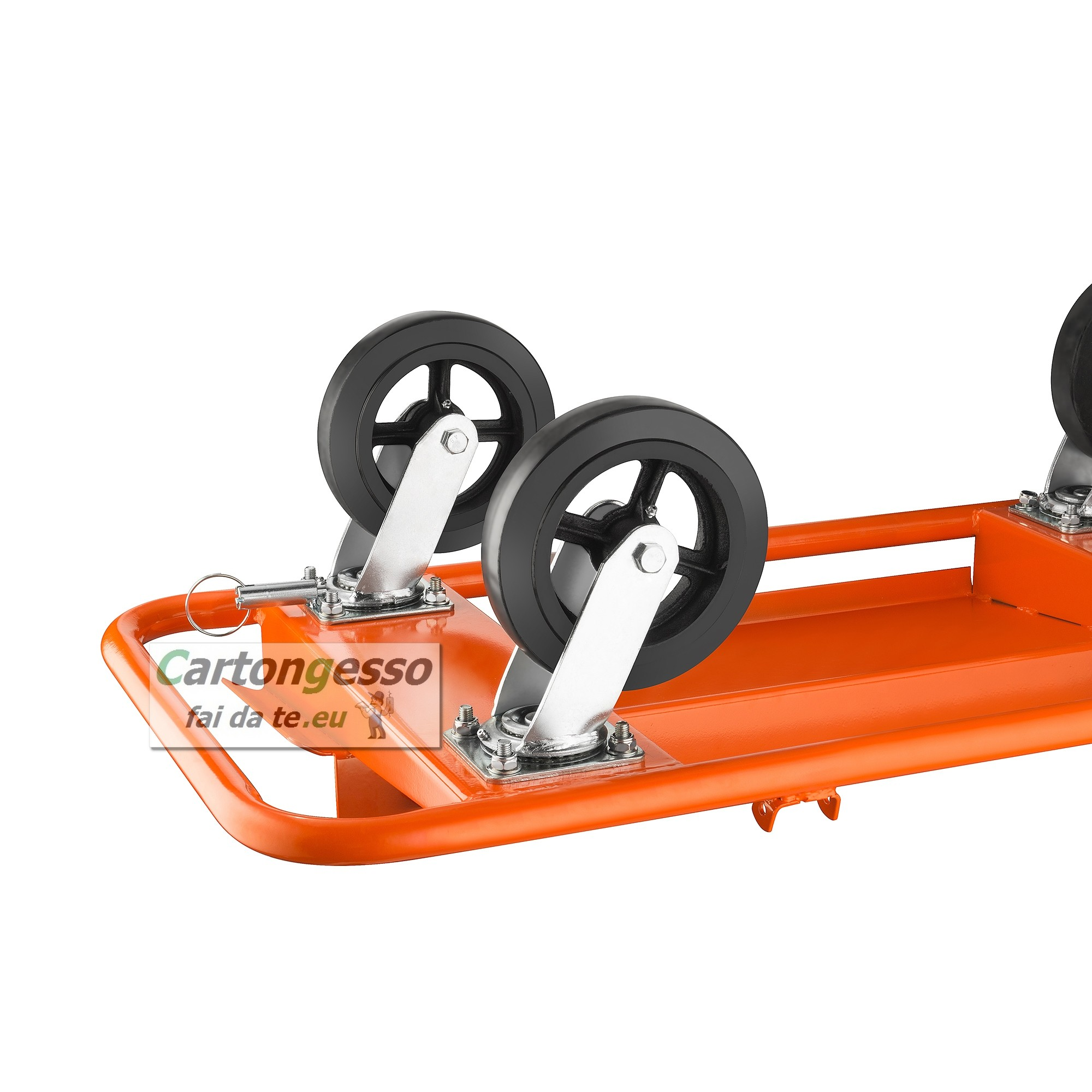 Carrello porta lastre da cantiere a 4 ruote - Scheda