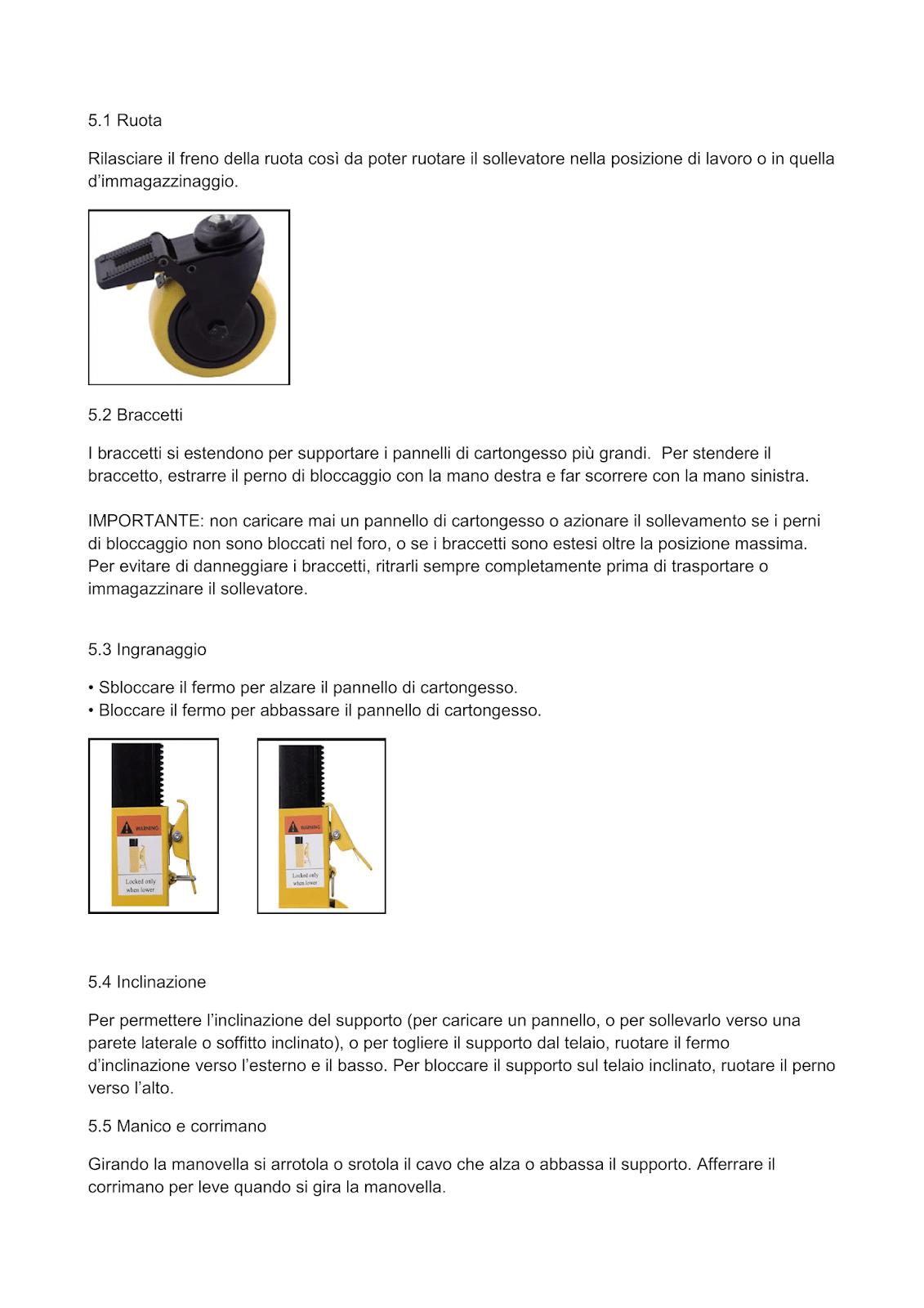 Manuale particolare 3 solleva pannelli