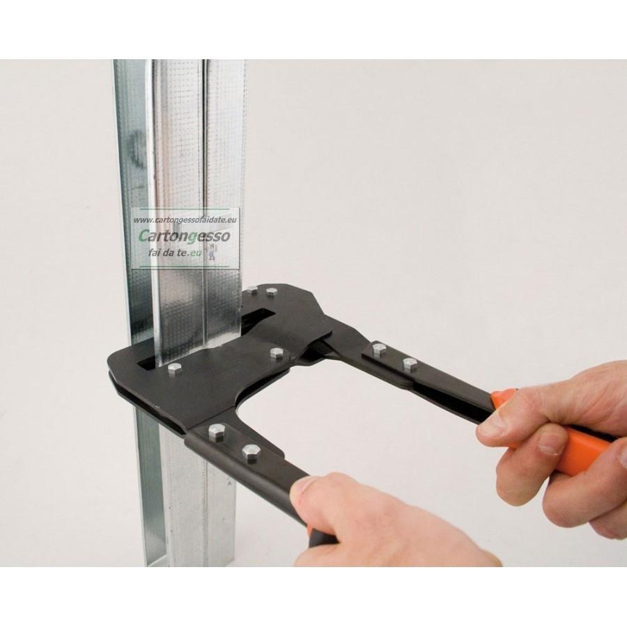 punzonatrice profili 70 mm per cartongesso drywall