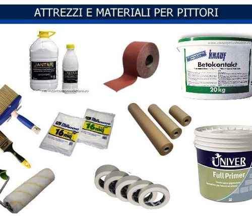 Attrezzi e materiali per pittori