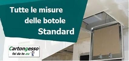 Tabella botole ispezione standard