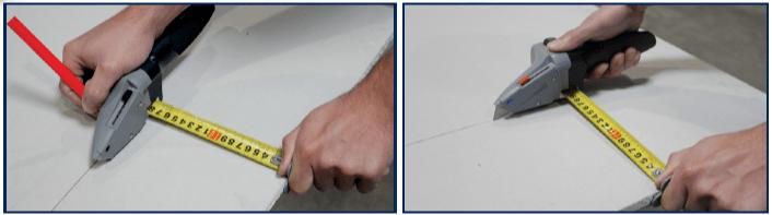 utilizzo cutter e metro cartongesso