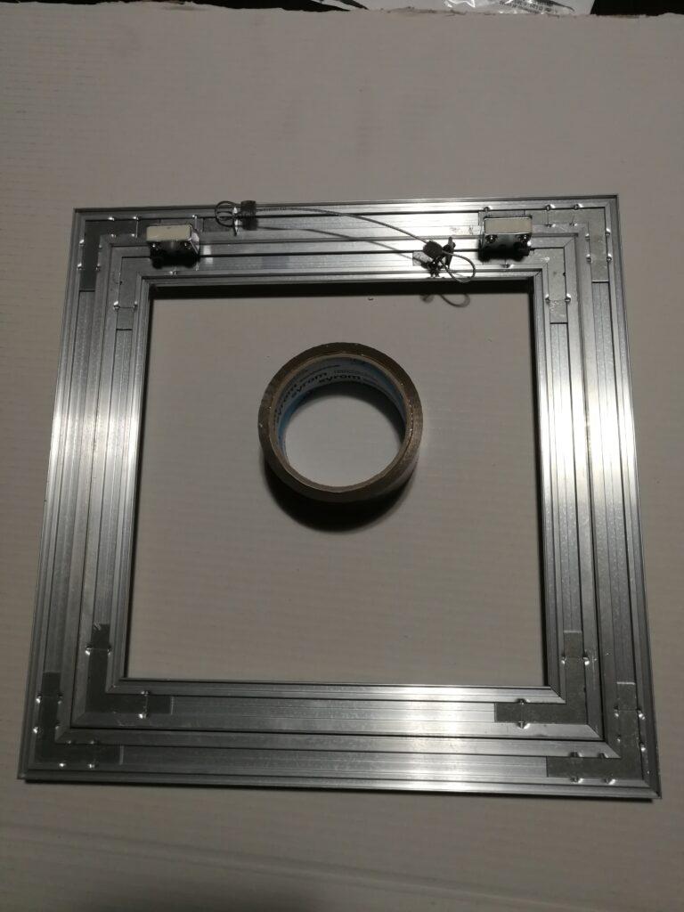 telaio alluminio cartongessista porta sportello anta