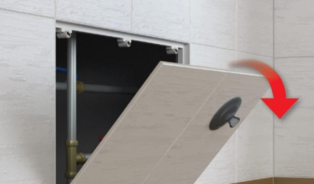 apertura sportello botola porta ispezione piastrelle ceramica muratura magnetica