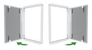 doppia apertura anta piastrella muro esempio
