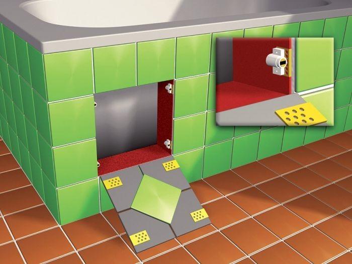 cartongesso ispezione mattonelle piastrelle drywall