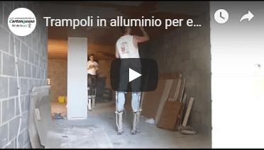 trampoli in alluminio per edilizia e cartongesso