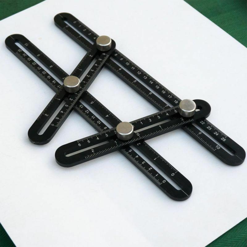 Misuratore angolare snodabile in lega di alluminio for Dima per cerniere anuba fai da te