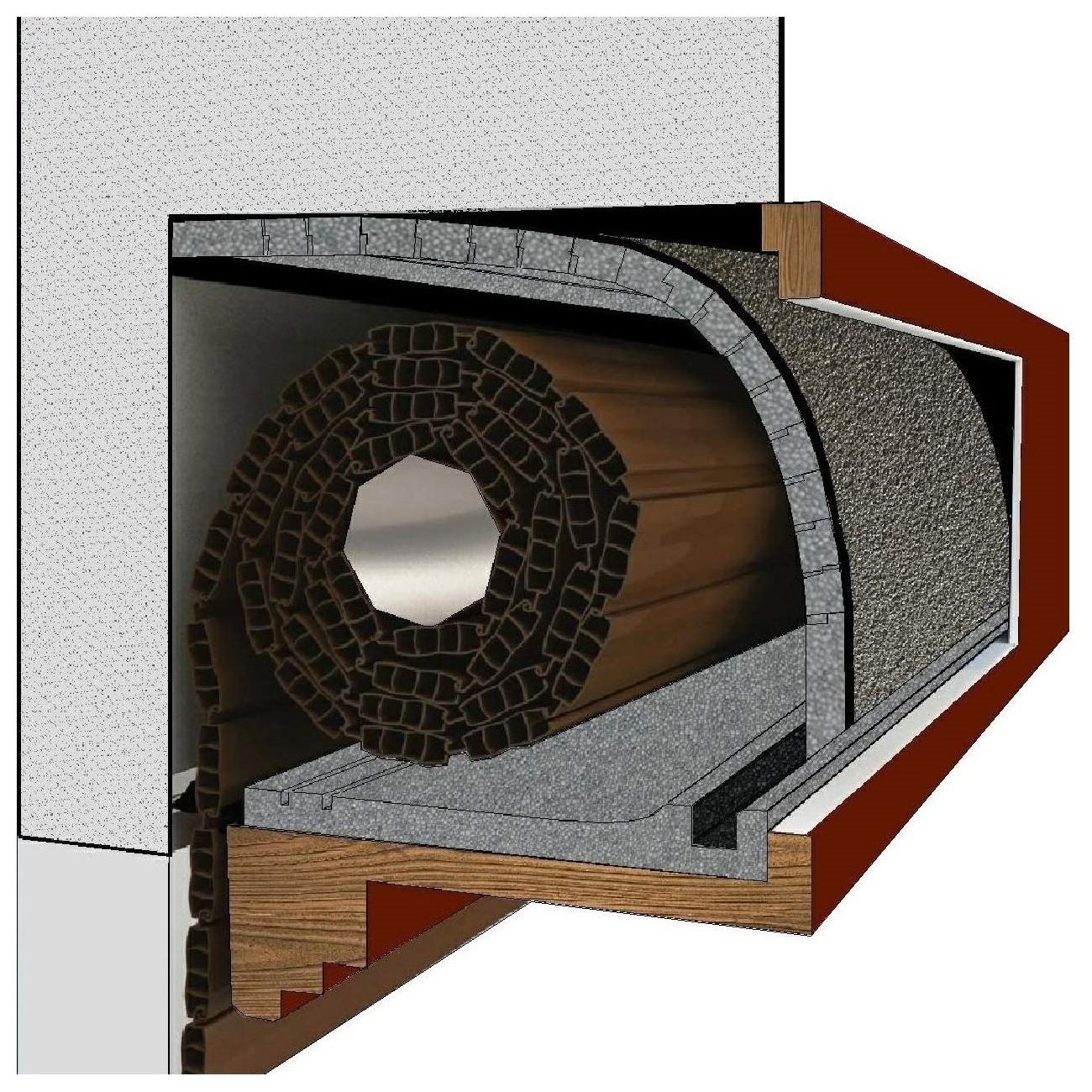 tappetino materassino per coibentazione acustica e termica per cassonetti e finestre