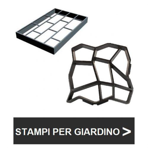 Stampi per la pavimentazione del giardino