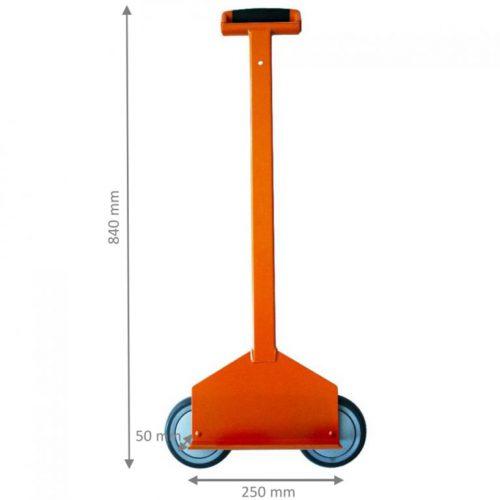 Carrello con ruote in linea Roll Plac® EDMA per cartongesso o materiale edile