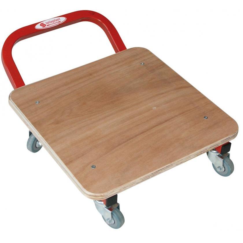 Piattaforma con ruote 40 x 40 cm 100kg di carico