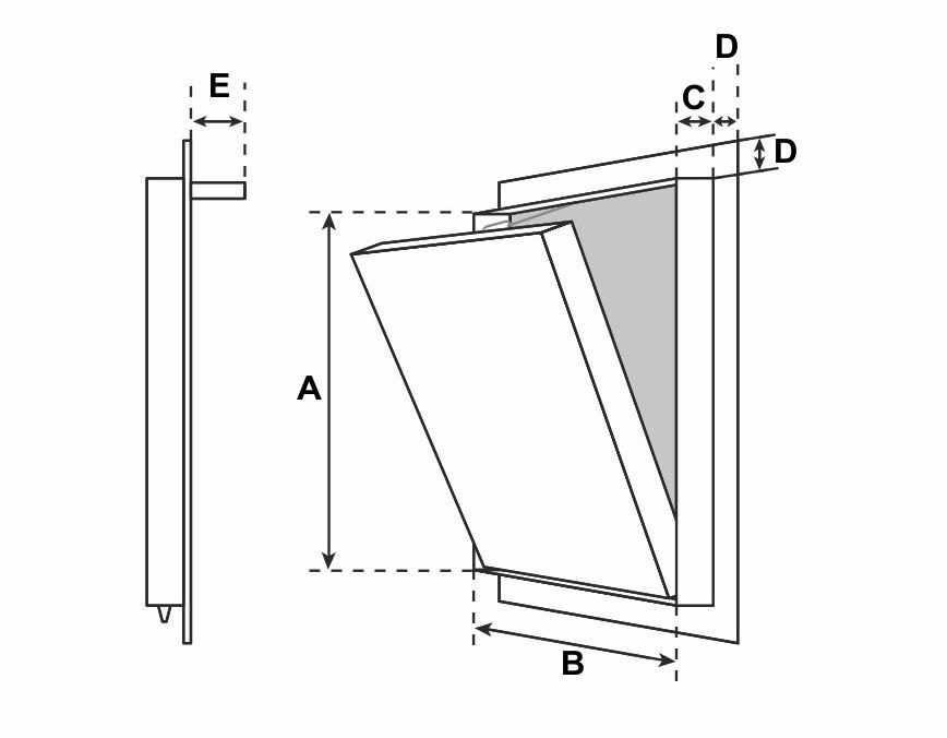 botola ispezione drywall mattonelle cartongesso muro