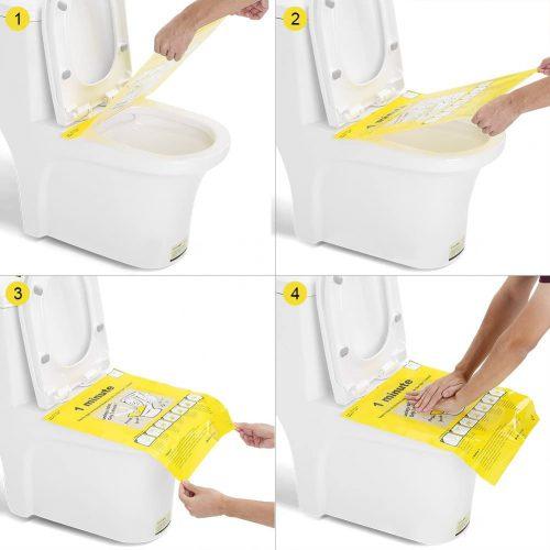 funzionamento Fogli di plastica adesiva per sturalavandini WC