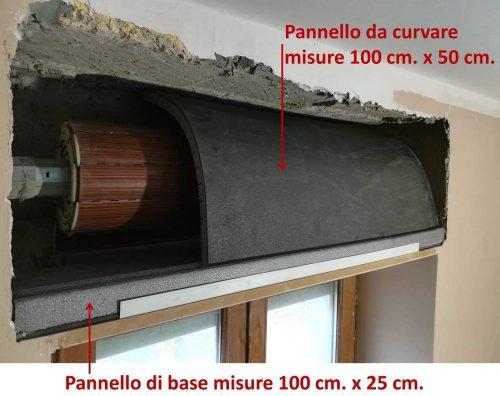 pannello da curvare materassino curvo coibentazione termica acustica cassonetto avvolgibili tapparelle cartongesso