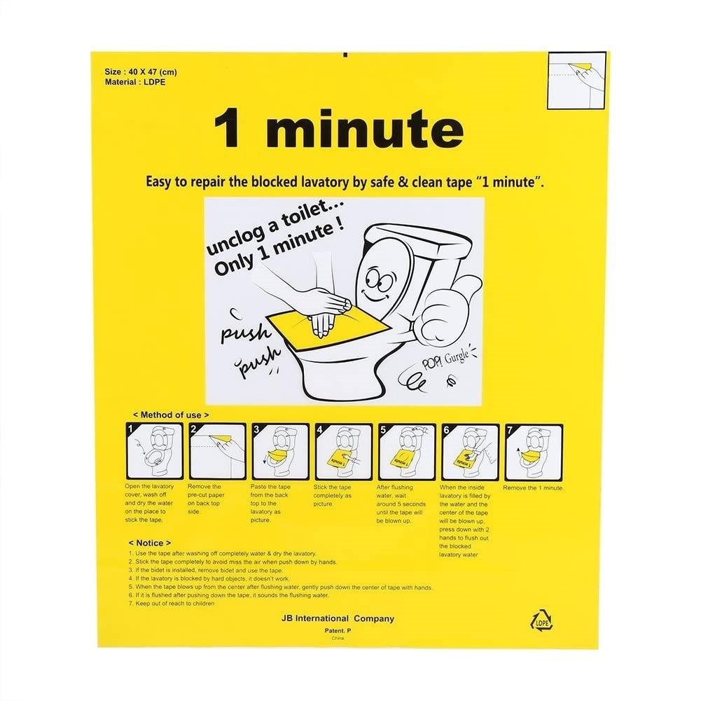 pellicola adesiva per WC otturato
