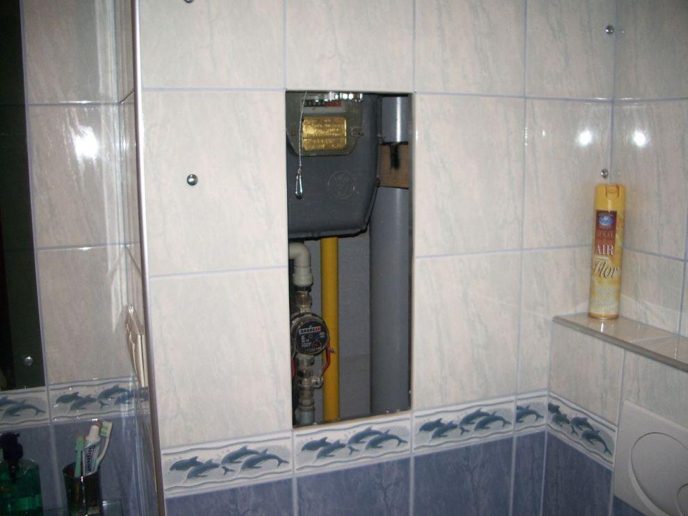 sportello per bagno con mattonelle anta estraibile su cartongesso