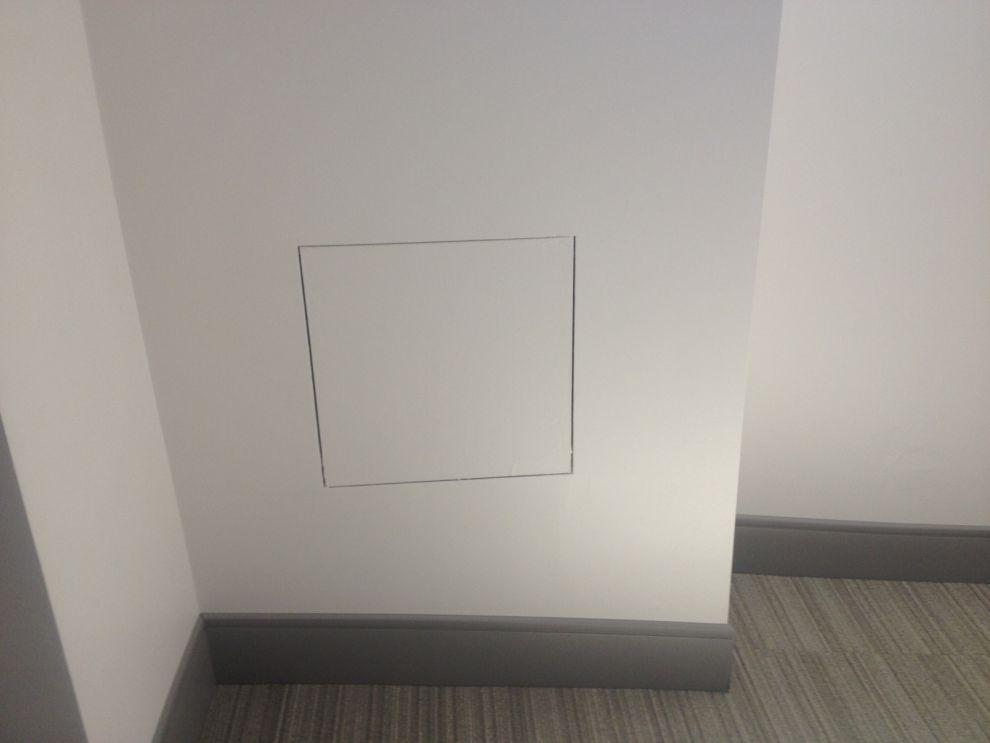 sportello per muro ispezione contatori