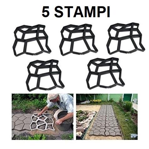 forme stampo per mattonelle giardino in cemento