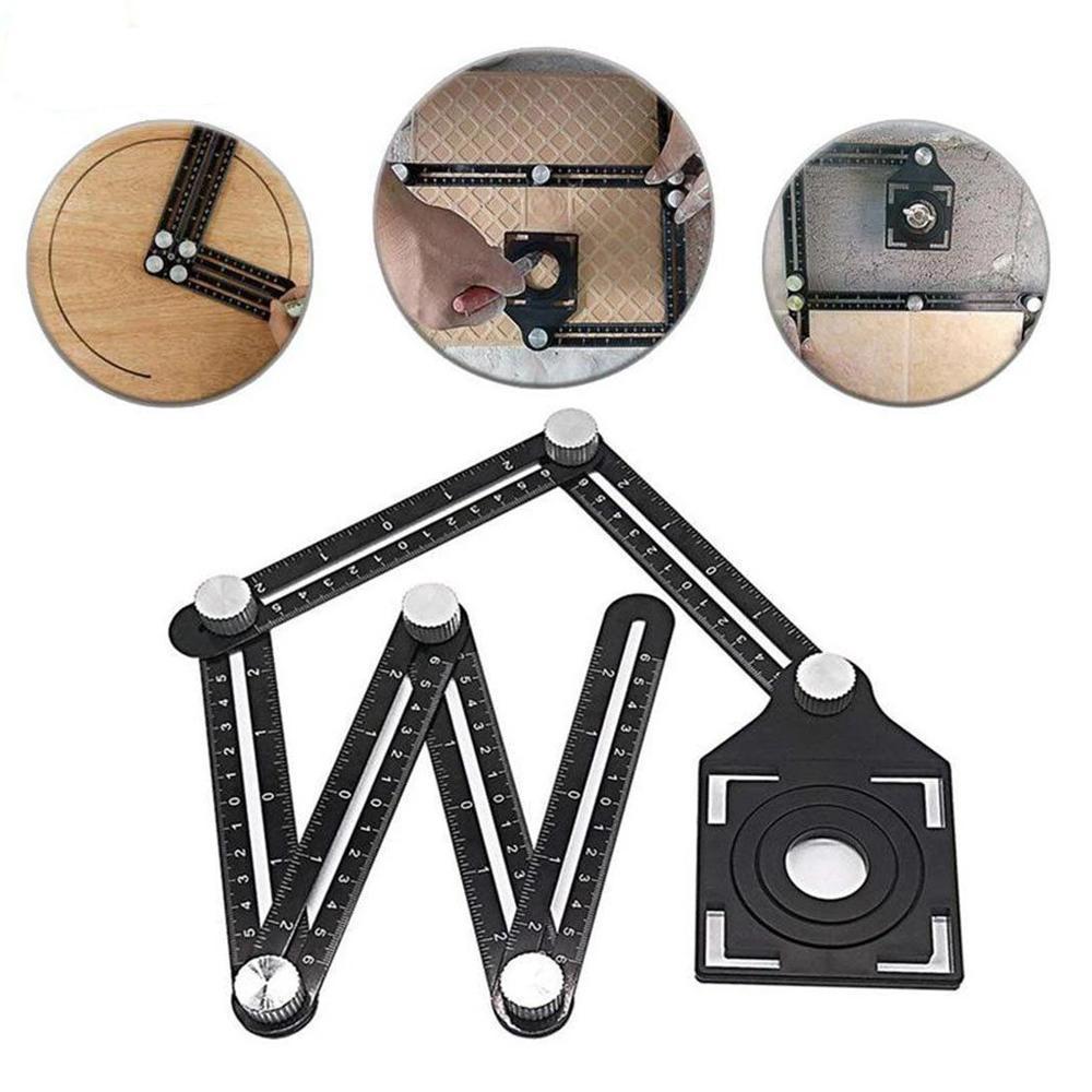 angleizer misuratore di angoli angolare 6 staffe bracci cartongesso mattonelle piastrelle legno