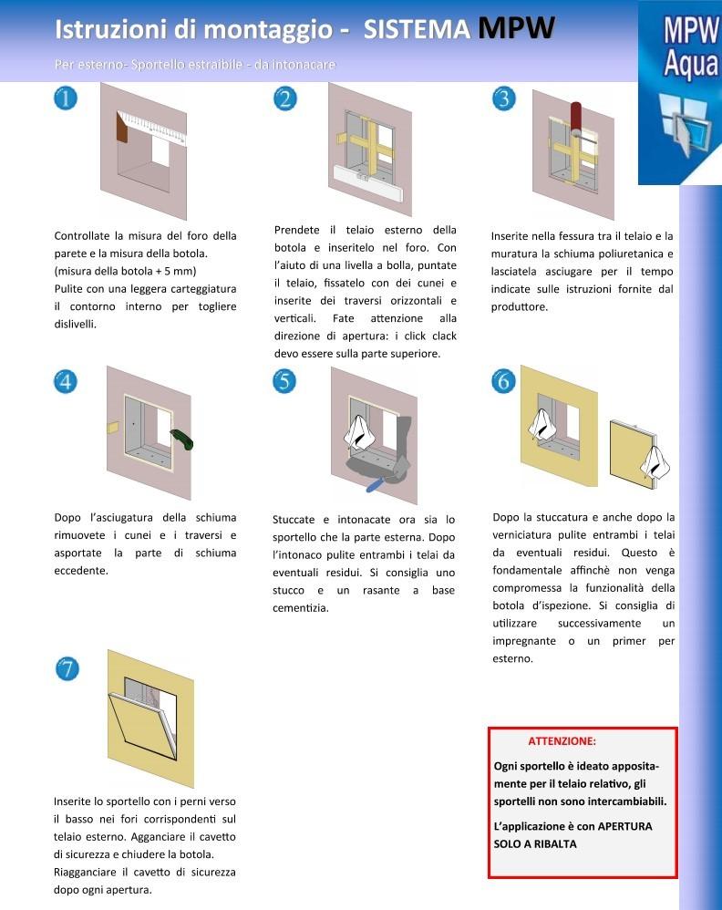 schema di montaggio MPW