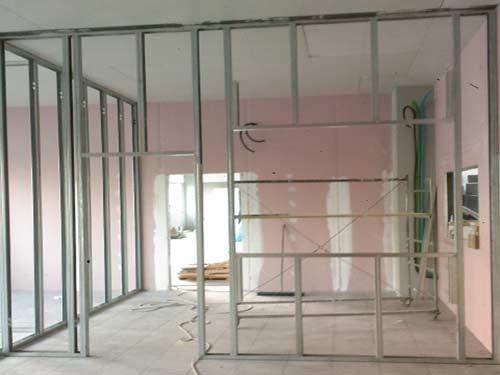 Affordable finest pareti e with pareti con cartongesso for Parete in cartongesso con porta